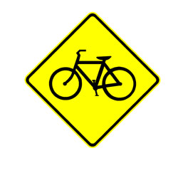 Road - Warning - Bicycle Area