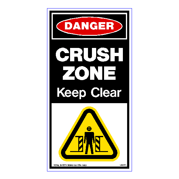 Danger Crush Zone Keep Clear 01 - WD025