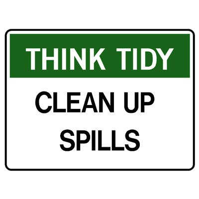 Think Tidy Clean Up Spills