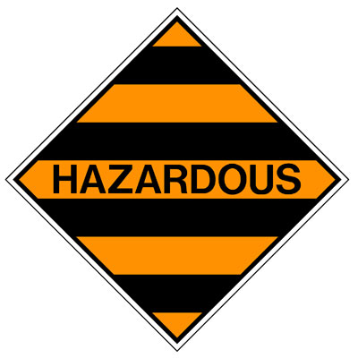 Hazardous Class Label - Hazardous