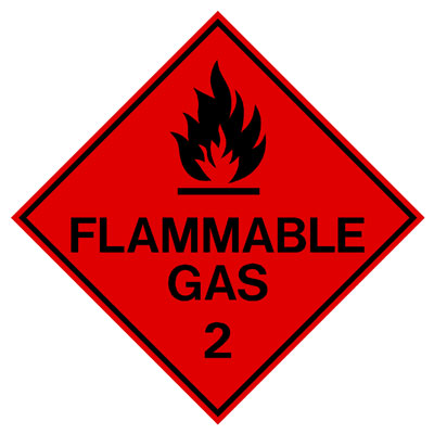 Hazardous Class Label - Flammable Gas 2
